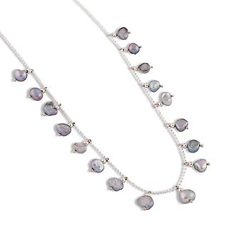 PEARLS FOR GIRLS chain playful ladies necklace with freshwater pearl silver