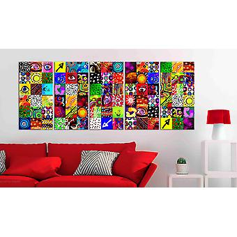 Maalaus - Värikäs abstraktio225x90