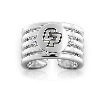 California Polytechnic State University Diamond Ring In Sterling Silver Design by BIXLER
