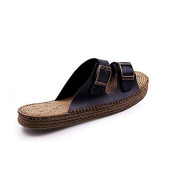 Sunday morning black sandals