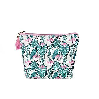 Fable Womens/Ladies Palm Tree Leaf Print Makeup Bag