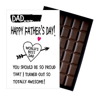 Funny Fathers Day Gifts For Dad Presents for Dad Daddy 85g Boxed Chocolate FD108