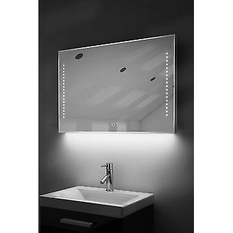 Digital Clock-Rasierer-Spiegel mit RGB Beleuchtung, Demist & Sensor k195rgb