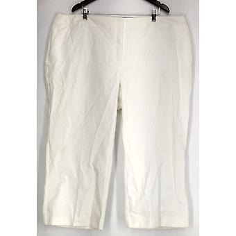 Alfani plus broek bijgesneden controle broek wit Womens