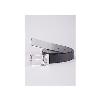 Emporio Armani Reverse Buckle Leather Belt
