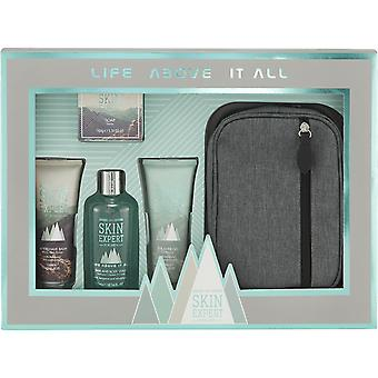 Style & Grace Skin Expert Essential Travel Collection - 300ml Hair & Body Wash, 150g Soap, 130ml Aftershave Balm, 130ml Shower Gel and Toiletry Bag