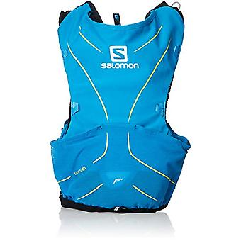 Salomon L40410500 ADV Skin 5 lett vann ryggsekk satt for løping/vandring-5 l-blå (Hawaiian Surf/Night Sky)-XL