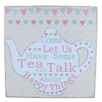 Tea And Talk Large Word Block