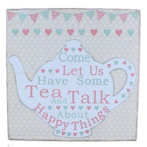 Tea And Talk Large Word Block