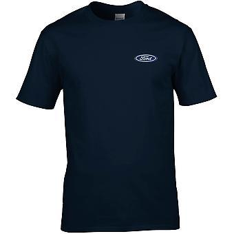 Ford Motorcar Auto bestickt Logo - Baumwolle Premium T-Shirt