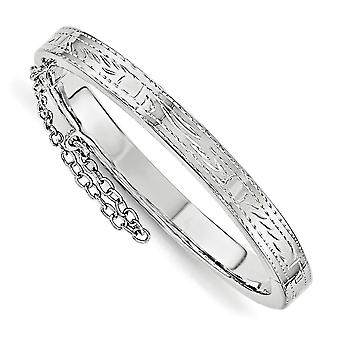 5.3mm 925 Sterling Silver Just Like Mommy Text. With Safety Hinged for boys or girls Cuff Stackable Bangle Bracelet