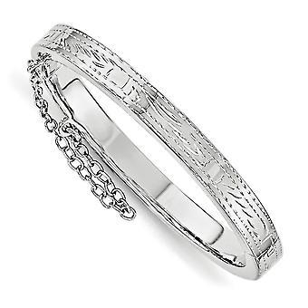 5.3 mm 925 prata esterlina assim como a mamãe texto. Com segurança articulada para meninos ou meninas pulseira
