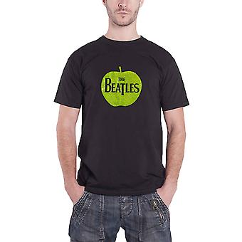 Le Beatles T Shirt Vintage Apple baisse T Logo Sparkle Mens officiel New Black