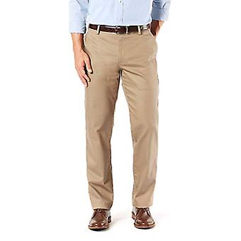 Dockers Men's Straight Fit Signature Khaki Lux Cotton, Tan, Size 32W x 30L