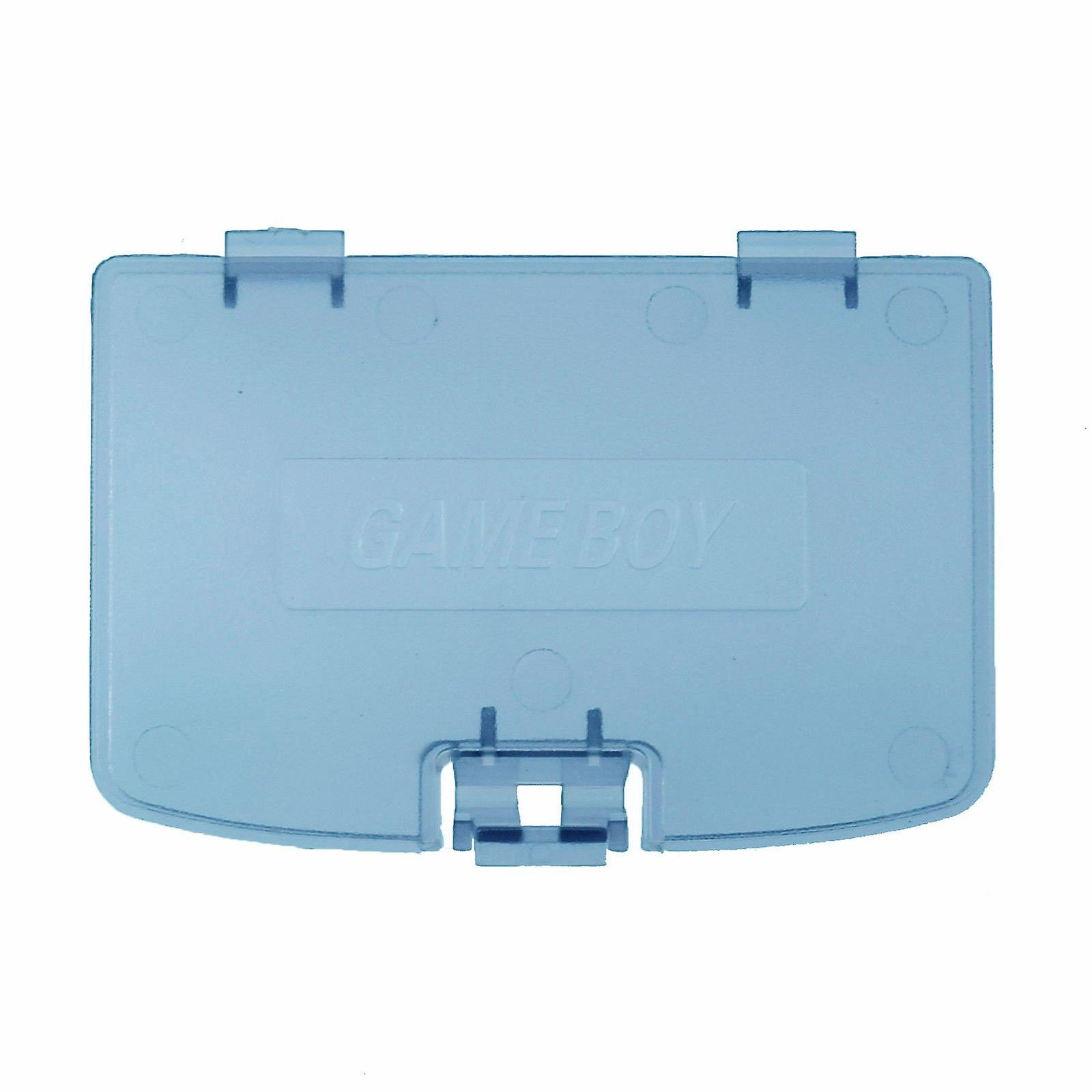 Replacement battery cover door for nintendo game boy color - clear blue