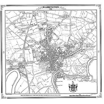 Warrington 1844 kartta (Heritage Cartography Victorian Town Map Series)