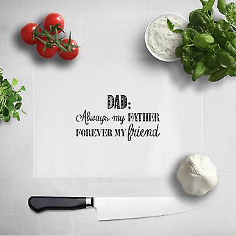 Dad: Always My Father, Forever My Friend Chopping Board