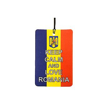 Keep Calm And Love Romania Car Air Freshener