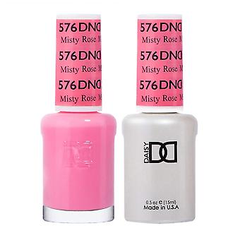 Dnd Duo Gel & Nail Polish Set - Misty Rose 576 - 2x15ml