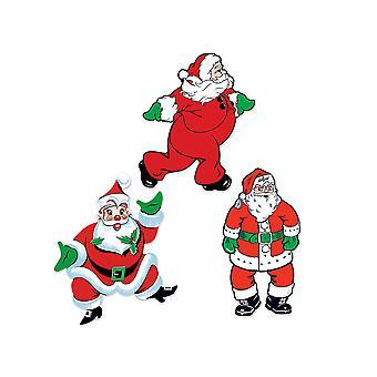 Vintage jul Santa cutouts