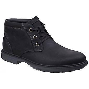 Rockport Tough Bucks Chukka Mens Leather Ankle Boots Black