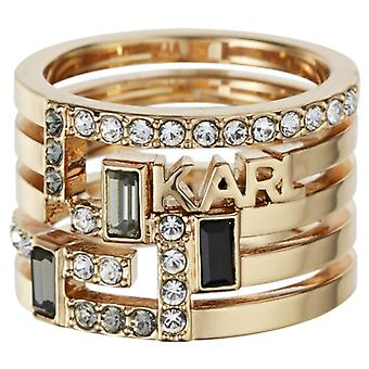 Karl Lagerfeld Woman Brass Not Available Ring Size 18 5512189