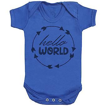 Hallo wereld Baby Romper-baby cadeau