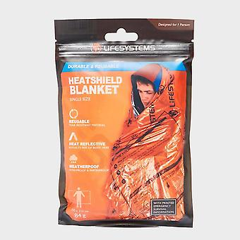 New Life Systems Heatshield Thermal Blanket Single Outdoors Camping Orange