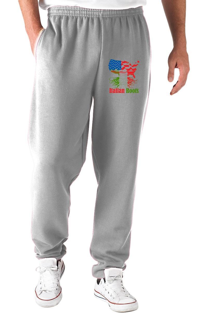 Pantaloni tuta grigio gen0875 italian roots