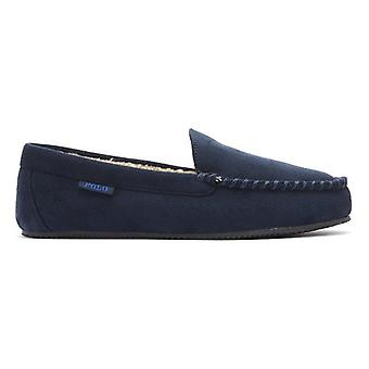 Ralph Lauren Dezi IV Mens Navy Moccasin Slippers