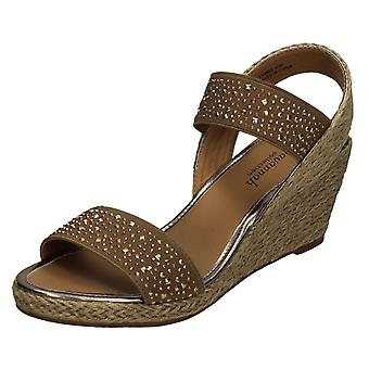 Ladies Savannah High Wedge Sandals F10908