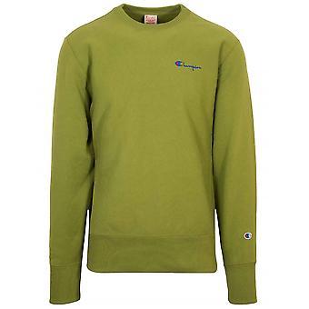 Kampioen reverse Weave groen logo Sweatshirt