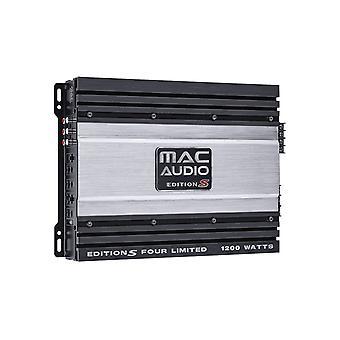 Mac audio Edition S fire LTD 4-kanals effektforstærker, 1200 watt max., ny