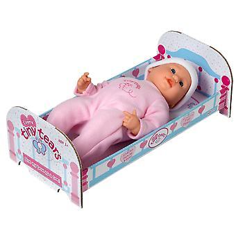 Boneca minúscula teeny do bebê dos rasgos