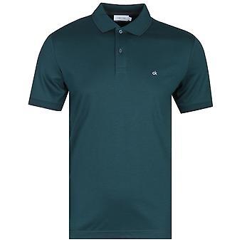 Calvin Klein Soft interlock slim fit getipt Castleton groen Polo shirt