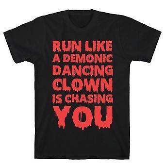Courir comme un t-shirt démoniaque dansant