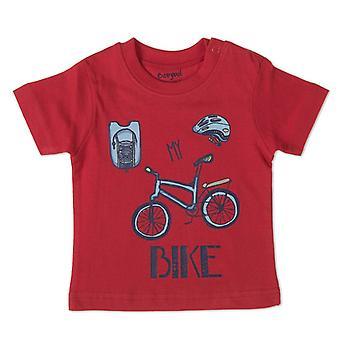 Babybol Jongens Rode Tshirt My Bike