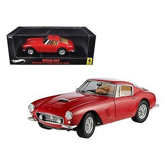 1961 Ferrari 250 GT Passo Corto-SWBMD Elite Edition Red 1/18 Diecast Model Car par Hotwheels