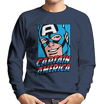 Marvel Captain America Poster Portrait Design Men's Sweatshirt