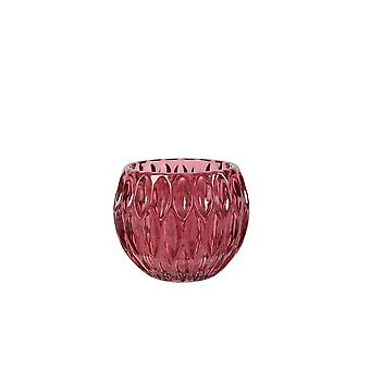 Light & Living Tealight 11x9cm - Rognes Glass Red