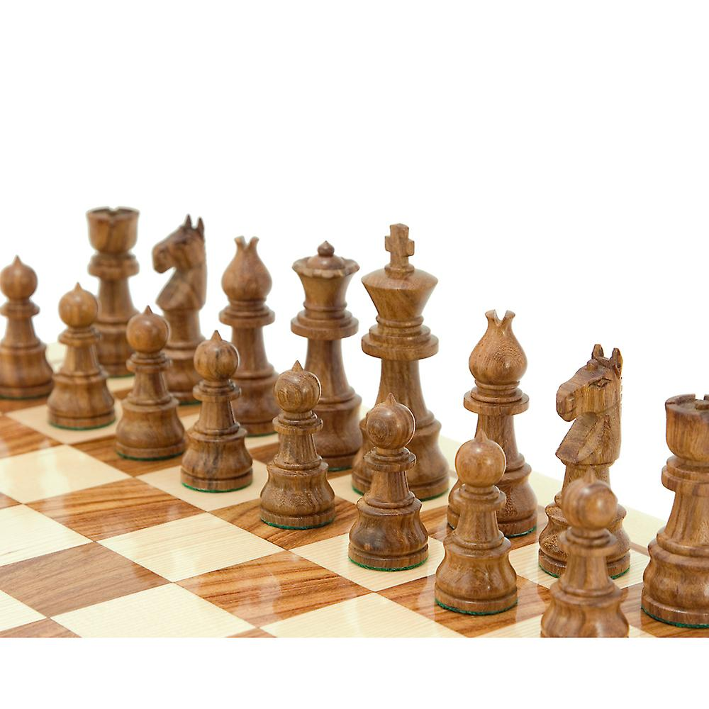 Opus Series Sheesham and Boxwood Chessmen 3.75 Inches