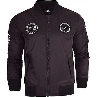 X Ray Mens Xray Designer Harrington Jacket MA1 Summer Lightweight Fashion Bomber Coat Zip Pockets