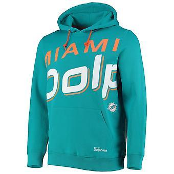 Miami Dolphins BIG GRAPHIC NFL Hoodie aqua