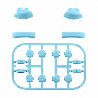 Full button set for nintendo switch joy-con controllers replacement soft touch - light blue | zedlabz