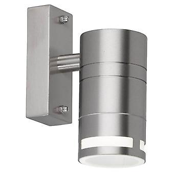 WOFI Vilano Moderna Luz de Parede ao Ar Livre Em Aço Inoxidável Acabamento Ip44 4007.01.97.7000