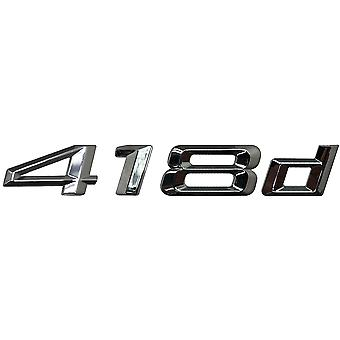 Silver Chrome BMW 418d Car Model Rear Boot Number Letter Sticker Decal Badge Emblem For 4 Series F32 F33 F36 G22 G23 G26