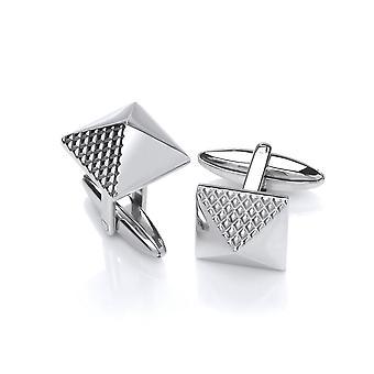 David Deyong Stainless Steel Pyramid Cufflinks