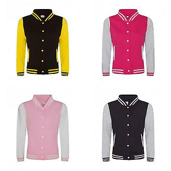 AWDis Womens/Ladies Girlie Varsity Jacket