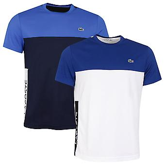 Lacoste Mens TH4856 Ribbed Neck Ultra Dry Pique Crocodile T-Shirt