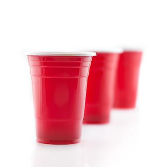 100 Red Party Kopper 16 Oz Party Cup Laget av plast for kalde drikker 16 Oz / 455 ml kapasitet